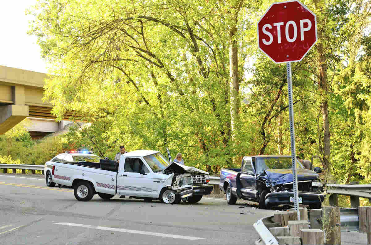 stop sign car accident