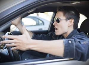 aggressive driving car wreck