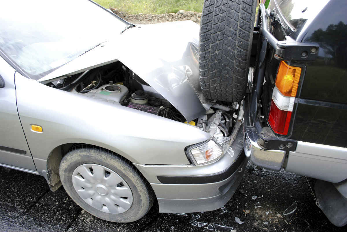 rear end collision accident