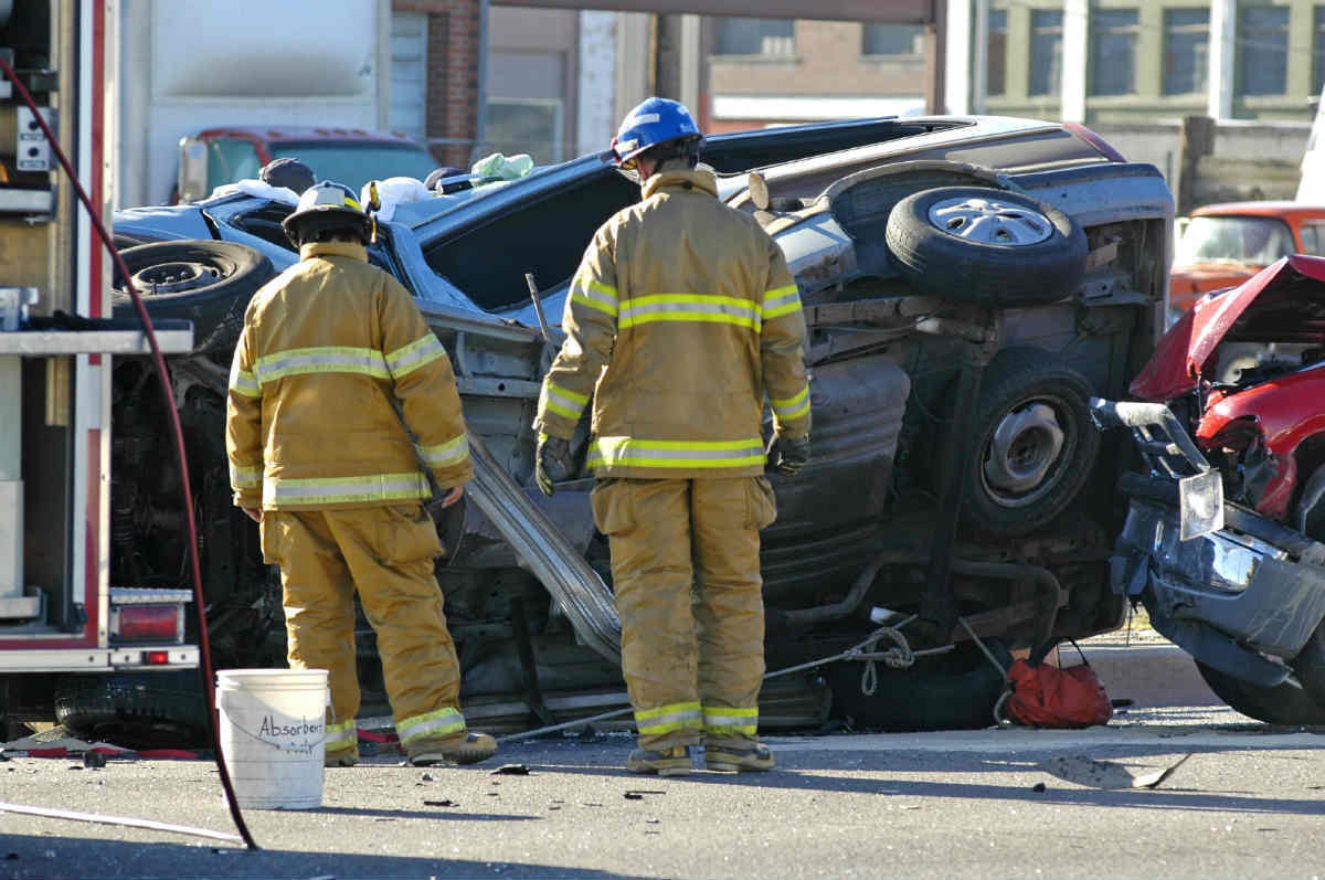 St. Louis rollover car accident
