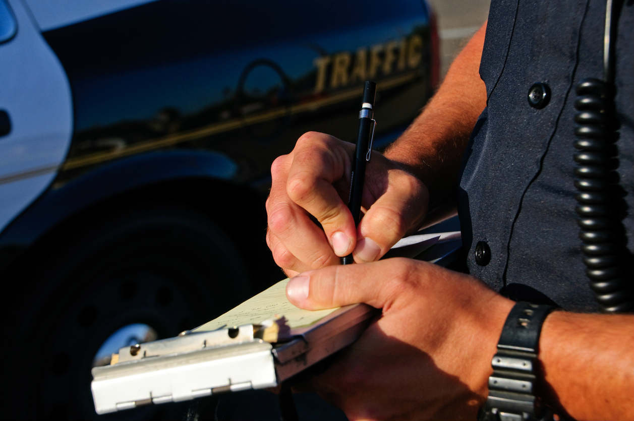 St. Louis police writing ticket after accident