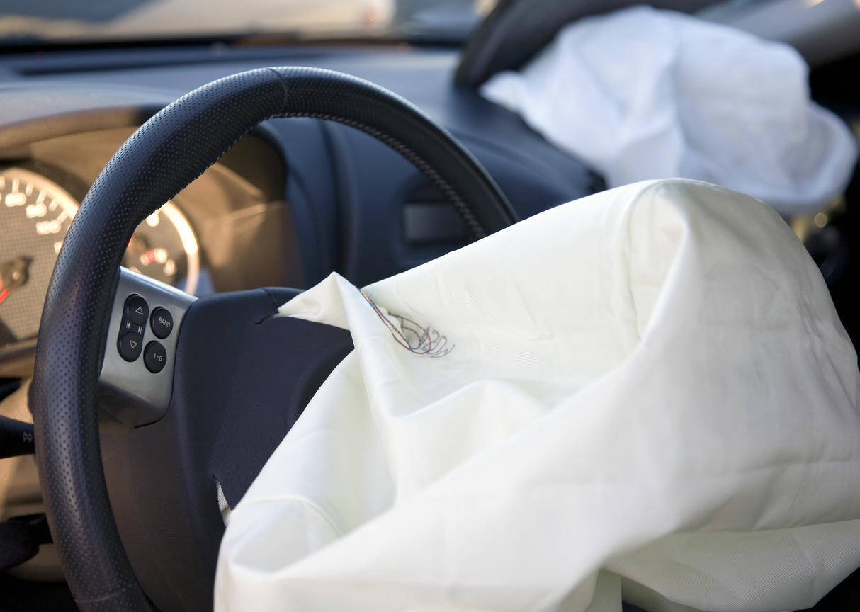 deployed airbag after auto accident