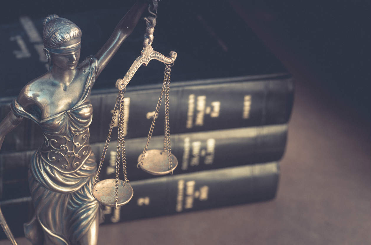scales of justice and legal books