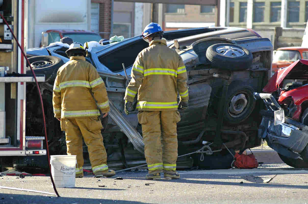rollover car accident in ST. Louis