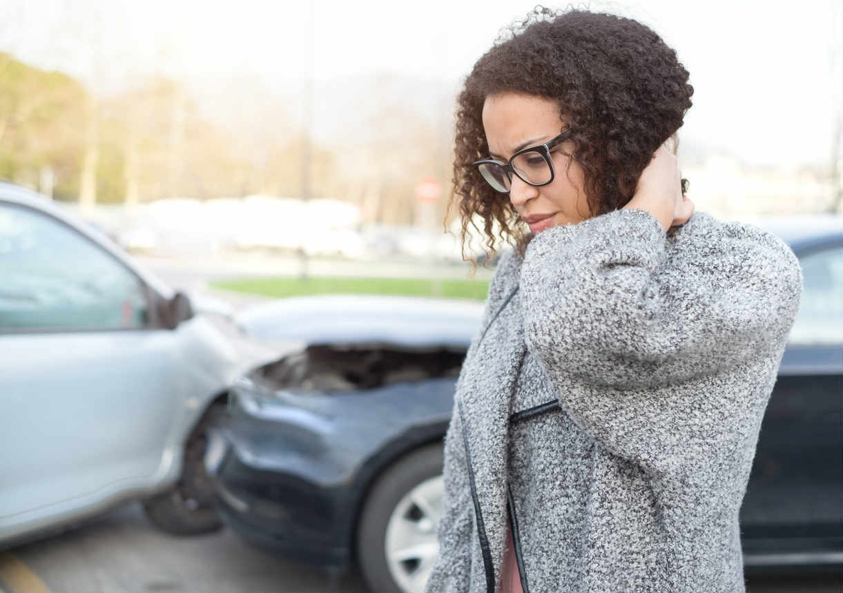 St. Louis woman with neck pain after accident