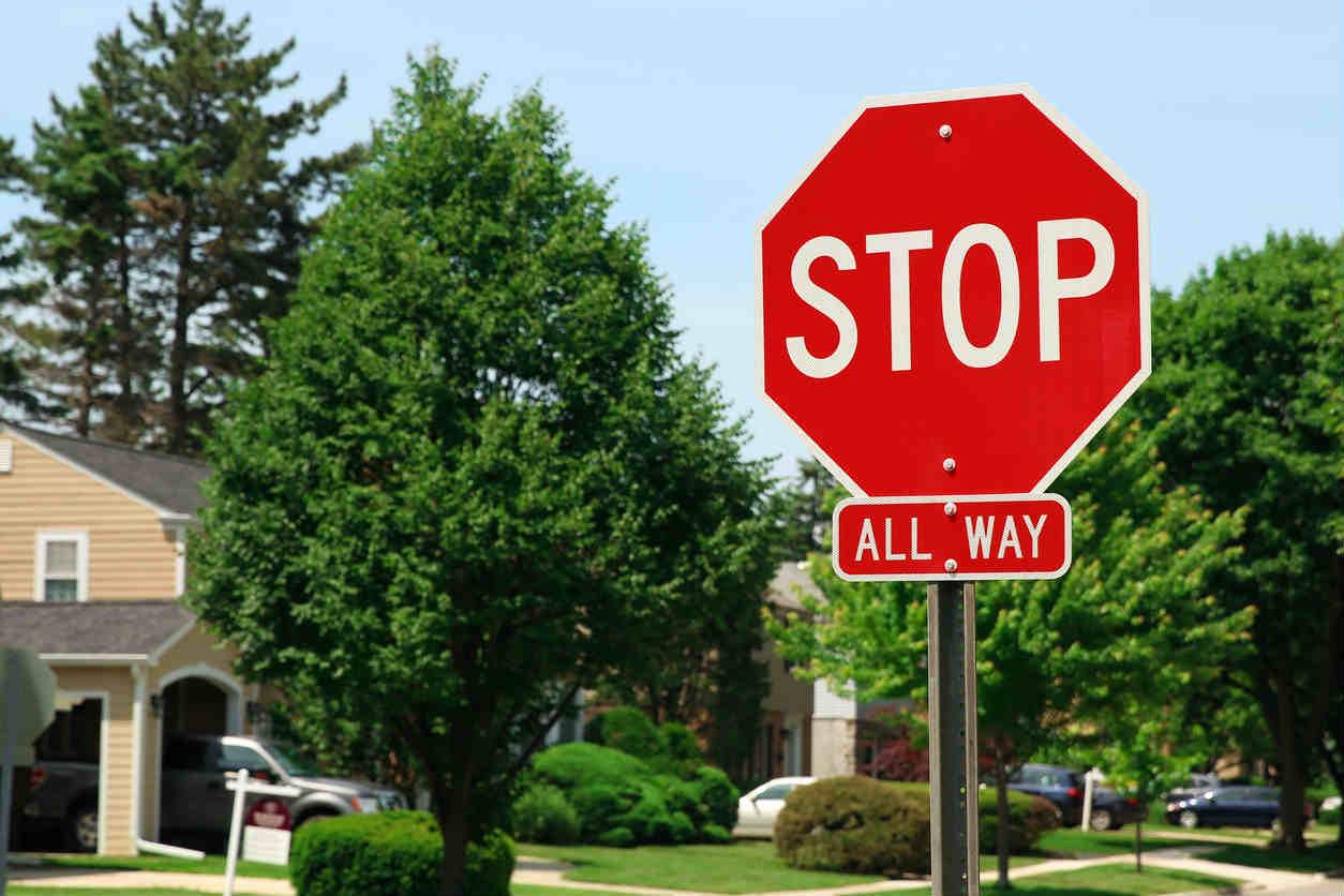 stop sign in ST. Louis neighborhood