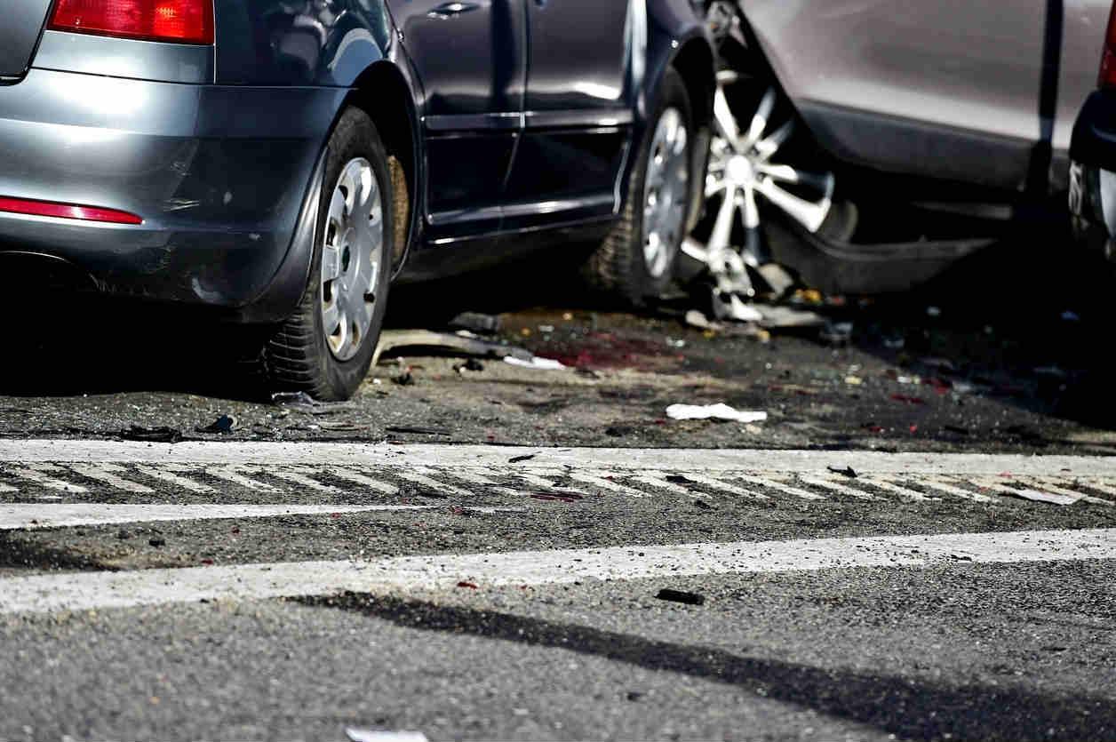 St. Louis car accident scene