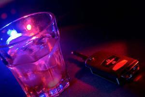alcohol next to car keys