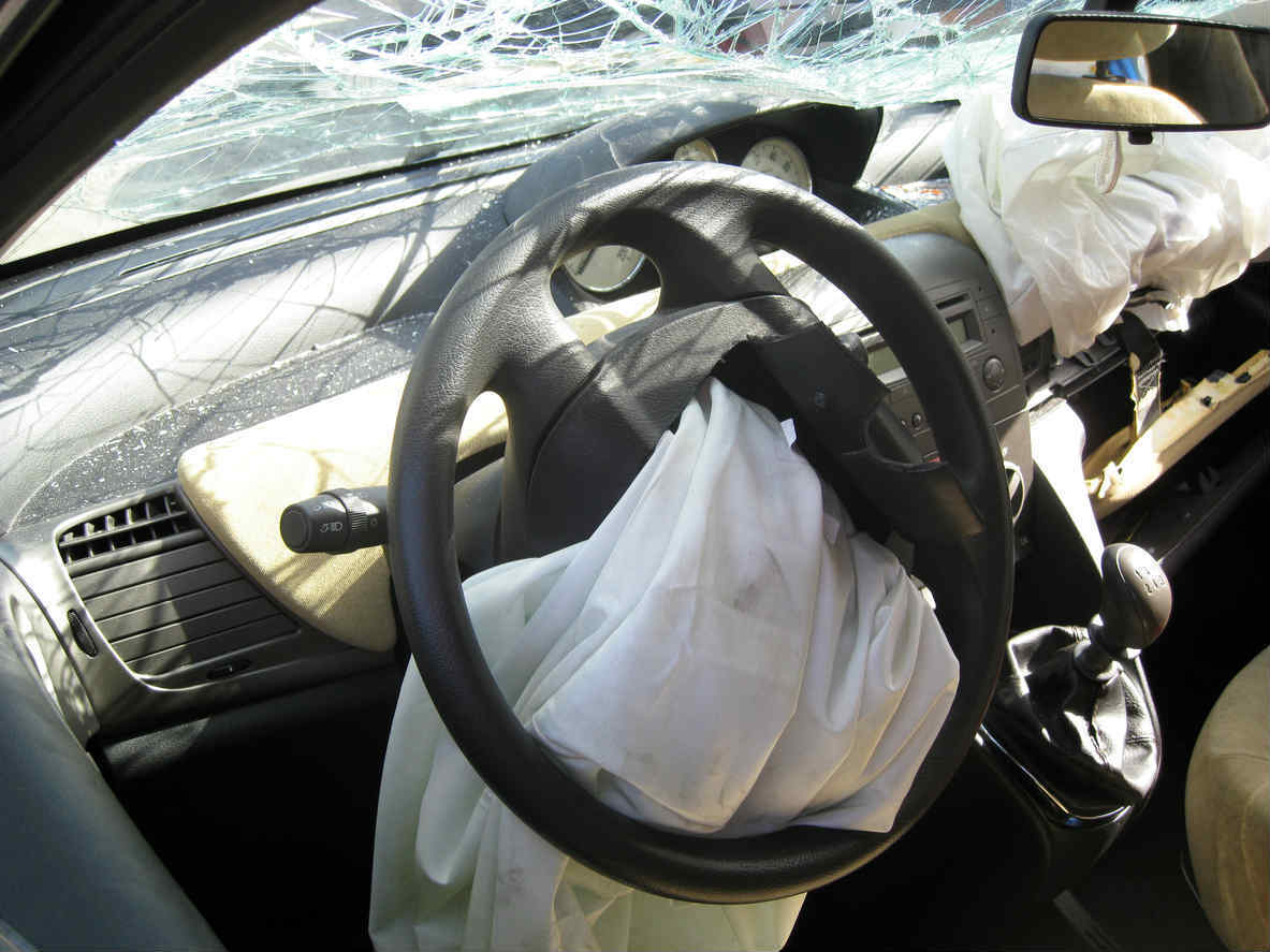 deployed air bag after car accident