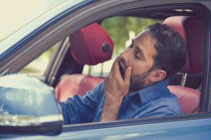 St. Louis man yawning while driving