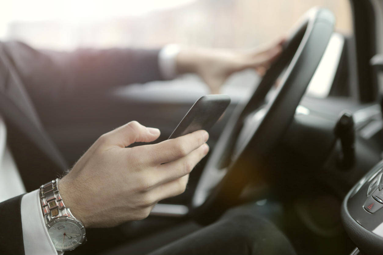 what to do if the other driver was texting