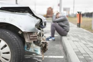 upset after car accident