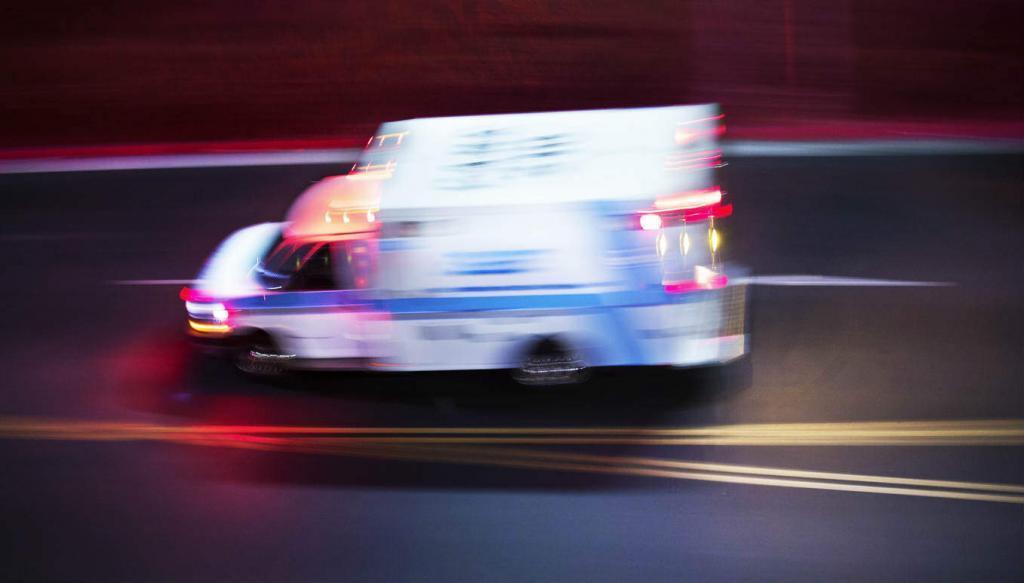 ambulance on the road