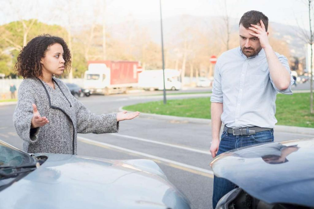 man apologizing after a car accident