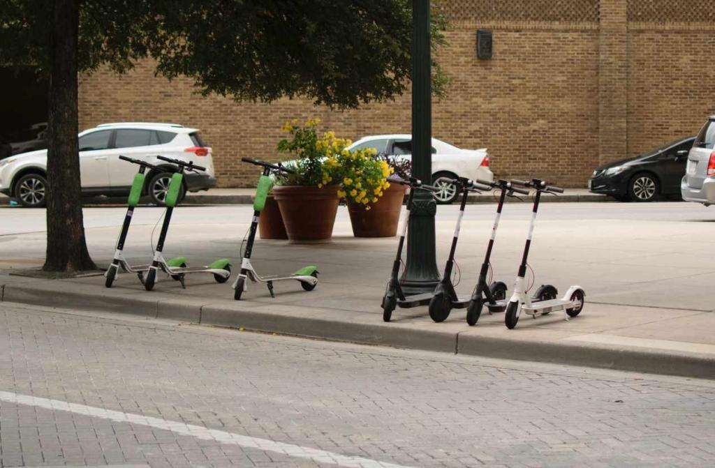 parked scooters