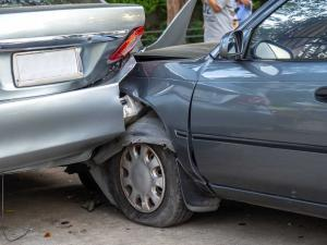 car accident that has occurred on private property