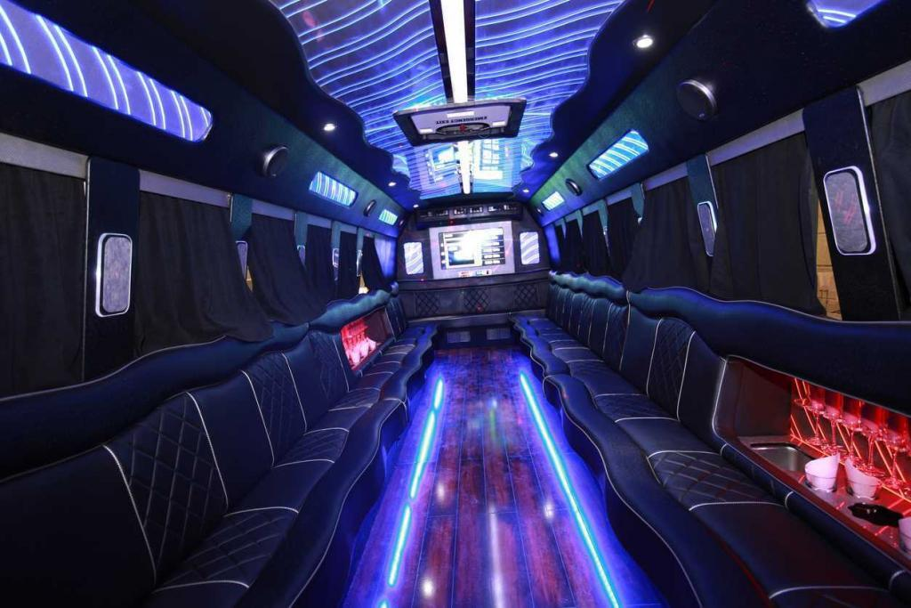 inside of a St. Louis party bus