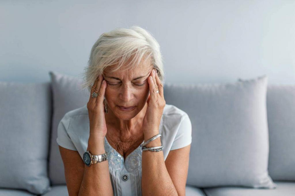 st. louis woman with a stress headache
