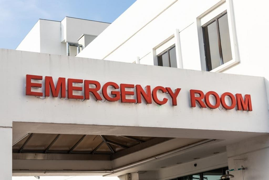emergency room after car accident