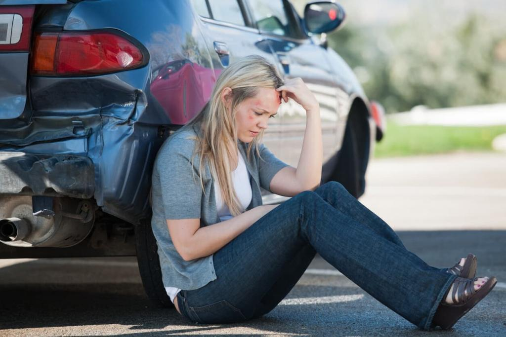 woman bruised after car accident