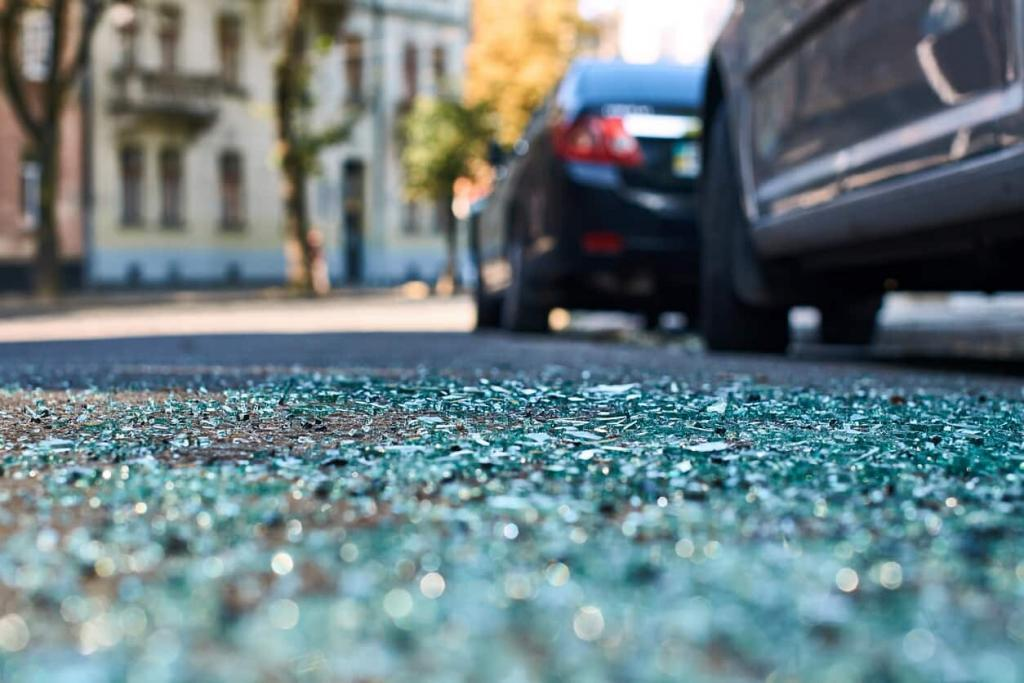 car accident scene in St. Louis