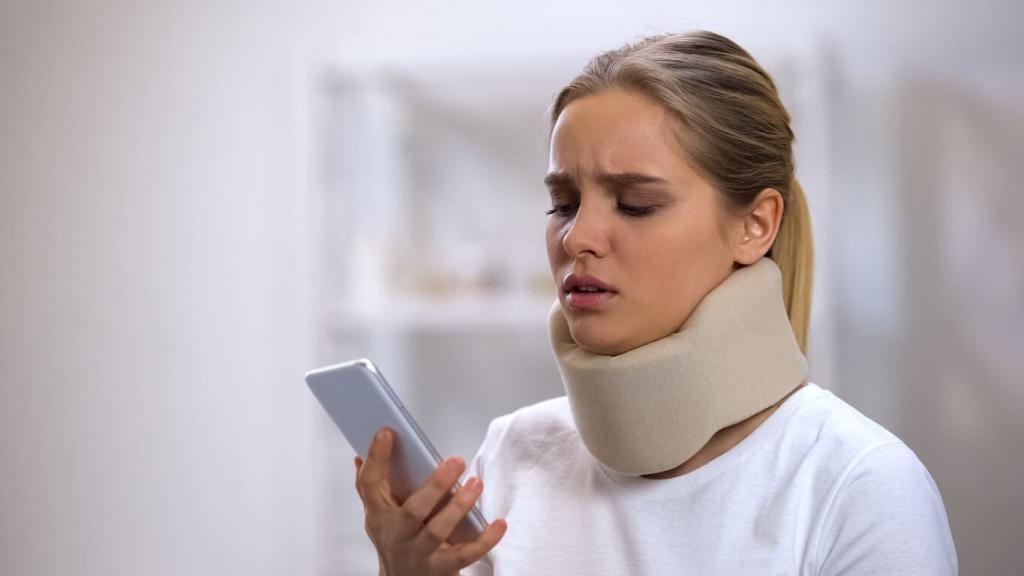 injured woman getting call from an insurance adjuster