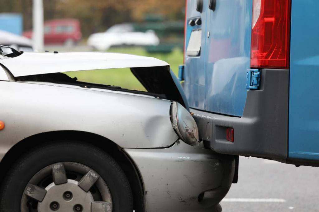 picture of two cars in an accident