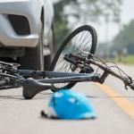 bike in the road after an accident